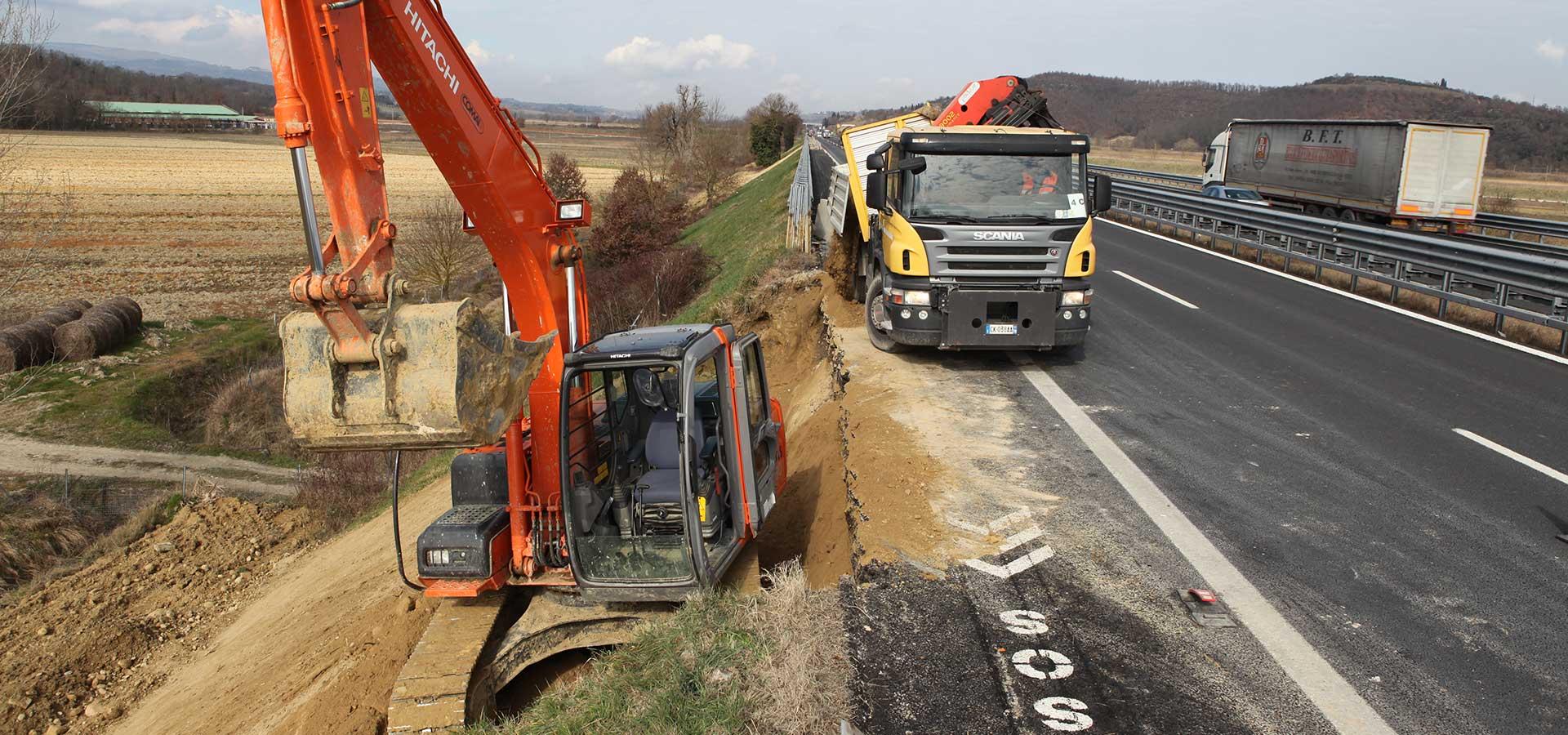 Lavori stradali e produzione di conglomerato bituminoso